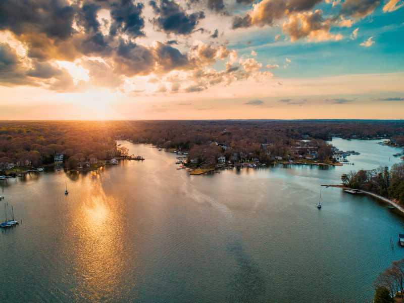 Drone Photo Lake Shore MD