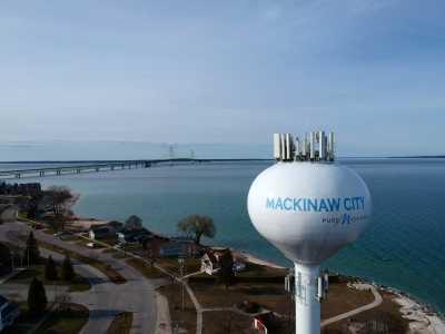 Drone Photo Mackinaw City MI