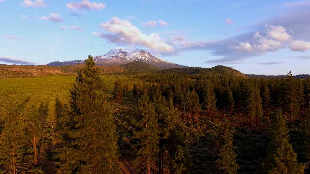 Drone Photo Mt Shasta CA