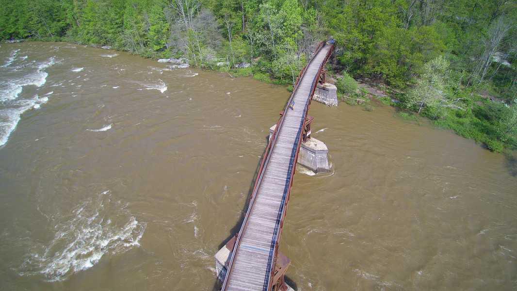 Drone Photo Ohiopyle PA