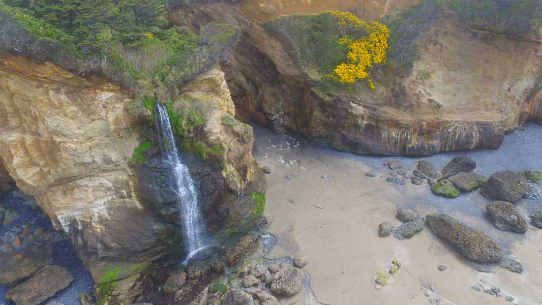 Drone Photo Otter Rock OR