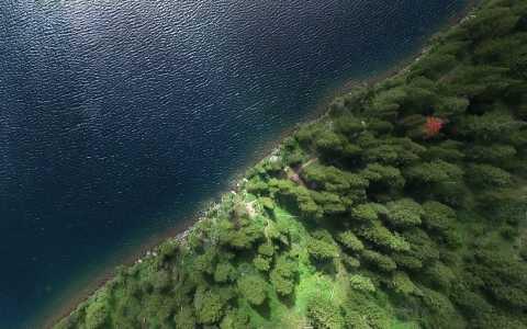 Drone Photo Phelps Lake Wy