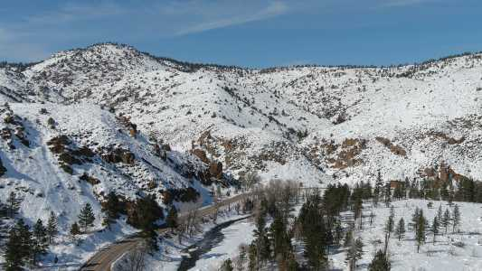 Drone Photo Poudre Canyon Co