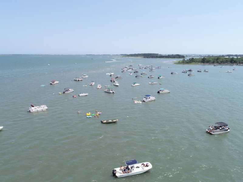 Drone Photo Rehoboth Beach DE