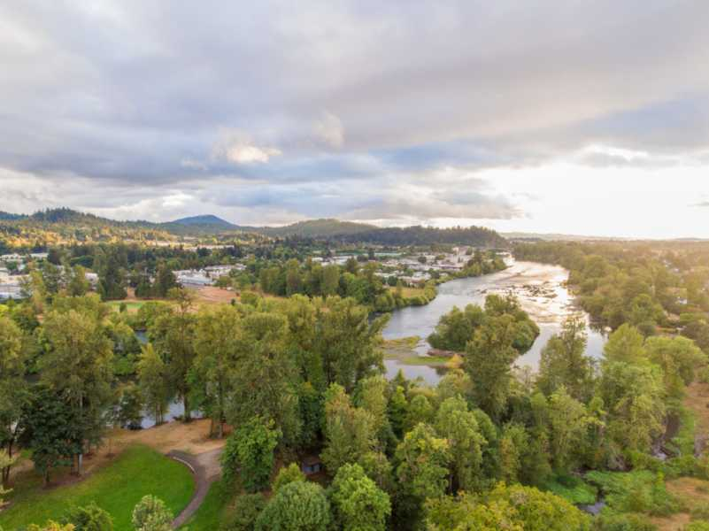 Drone Photo Rogue River OR