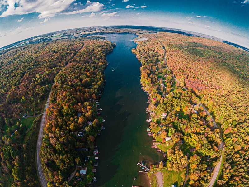Drone Photo Rushford Lake Ne