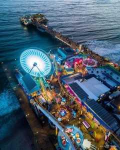 Drone Photo Santa Monica CA
