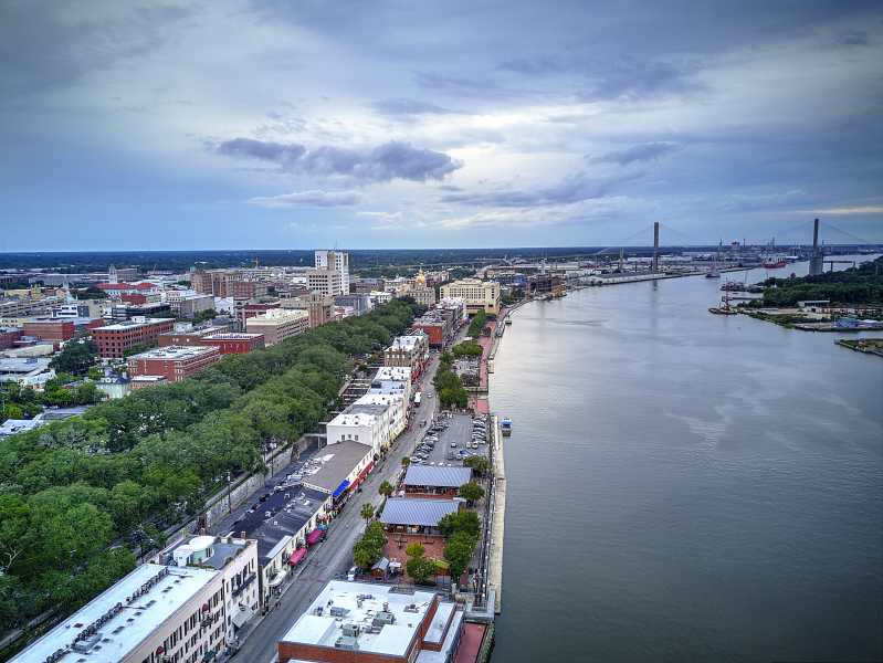 Drone Photo Savannah GA