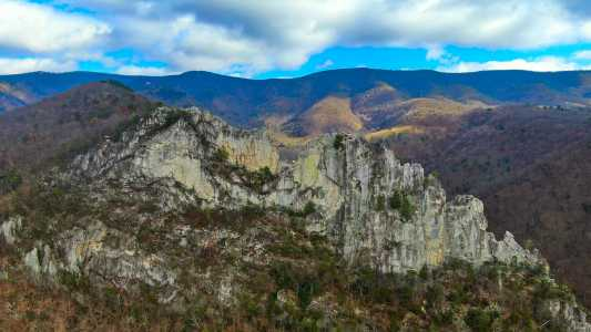 Drone Photo Seneca Rocks WV