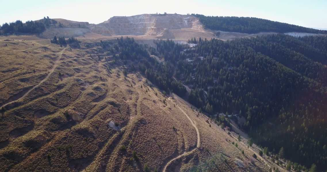 Drone Photo Silver City ID