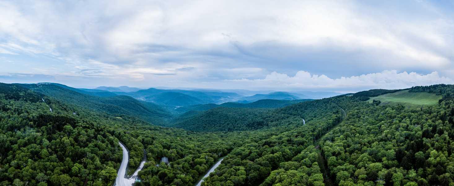 Drone Photo Snowshoe WV