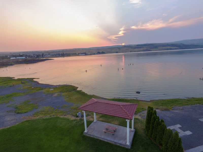 Drone Photo Soap Lake WA