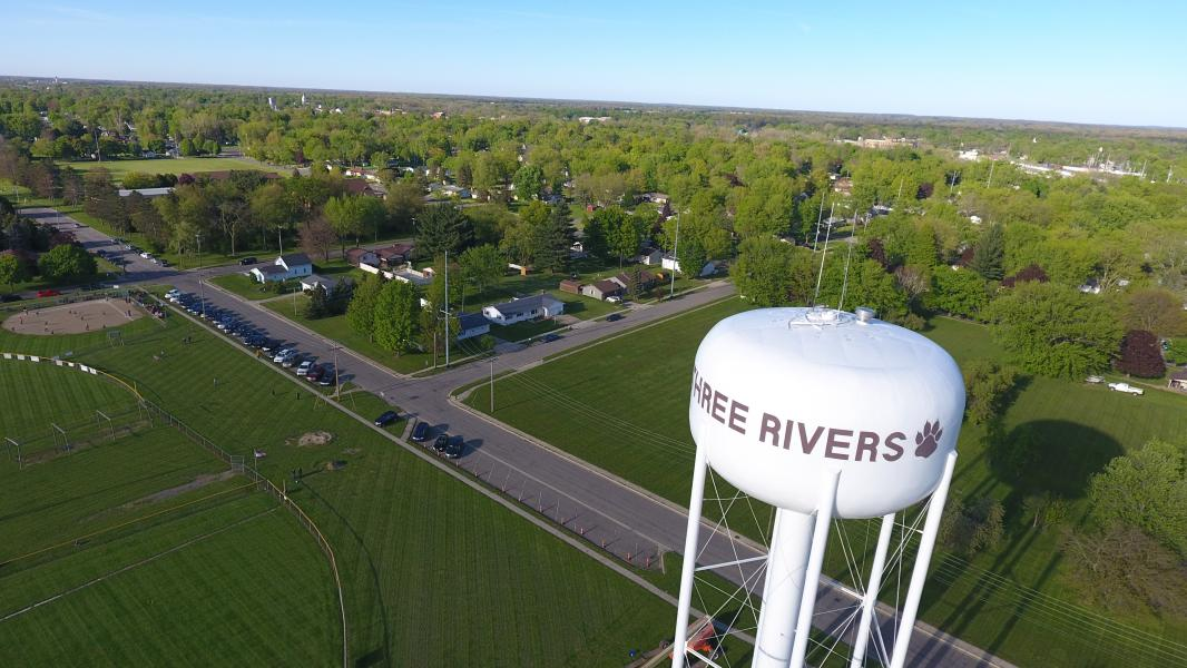 Drone Photo Three Rivers MI