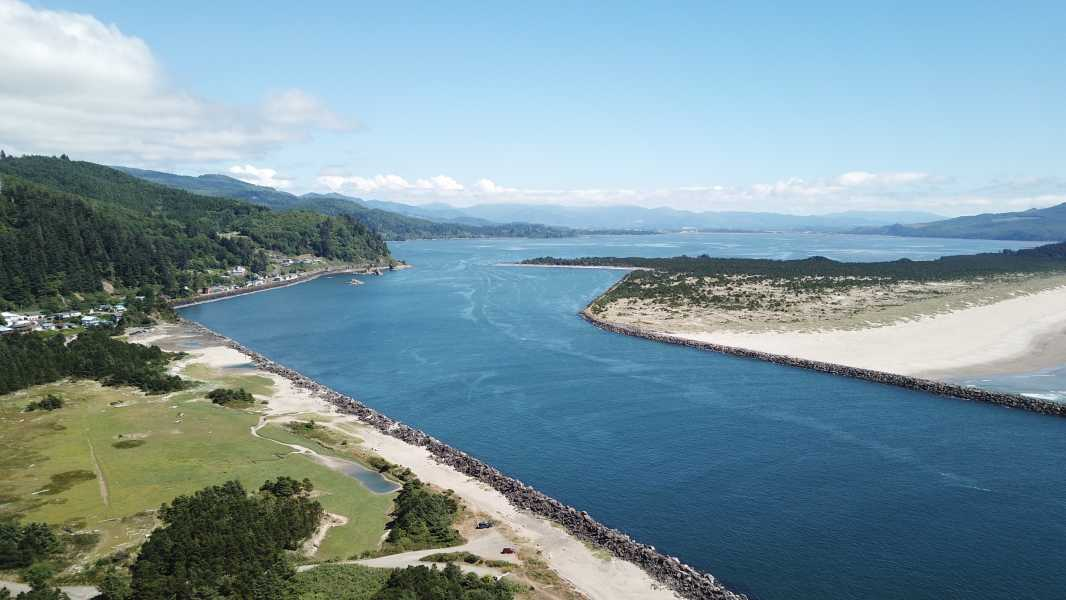 Drone Photo Tillamook Bay Or