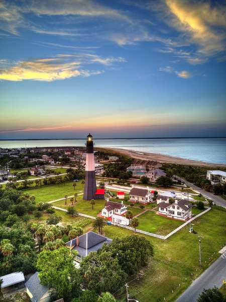 Drone Photo Tybee Island GA