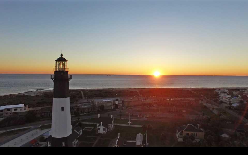 Drone Photo Tybee Island GA