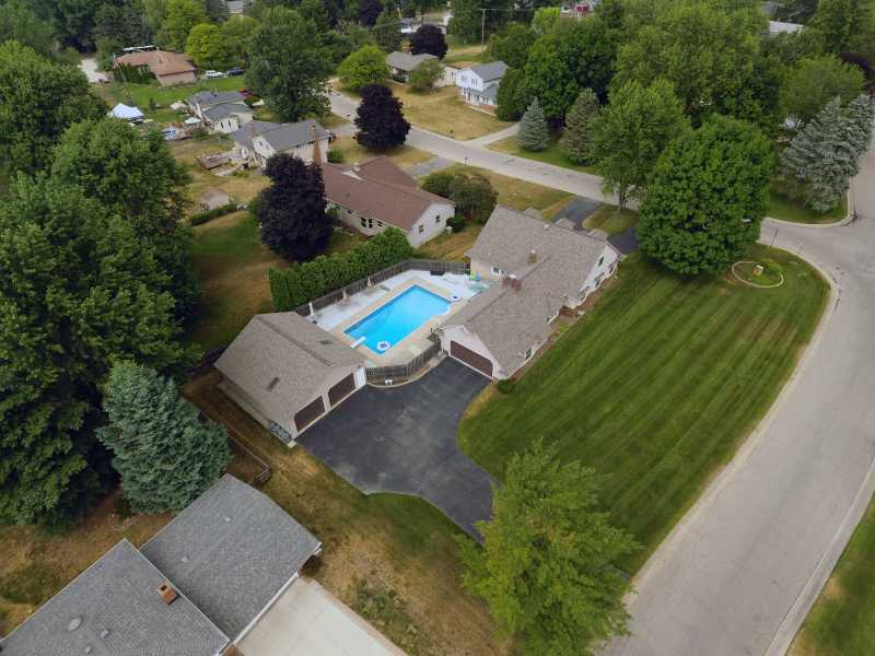 Drone Photo Village of Clarkston MI