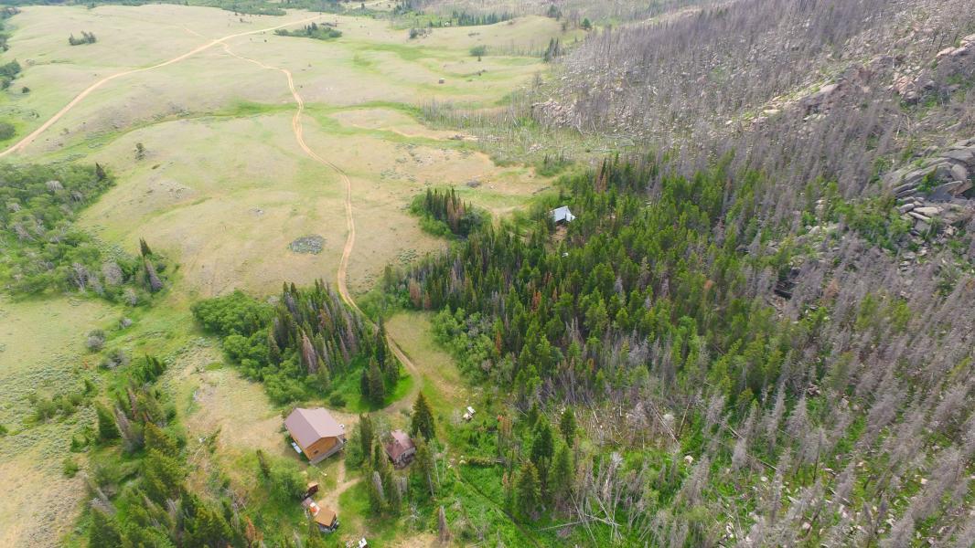 Drone Photo Wheatland WY
