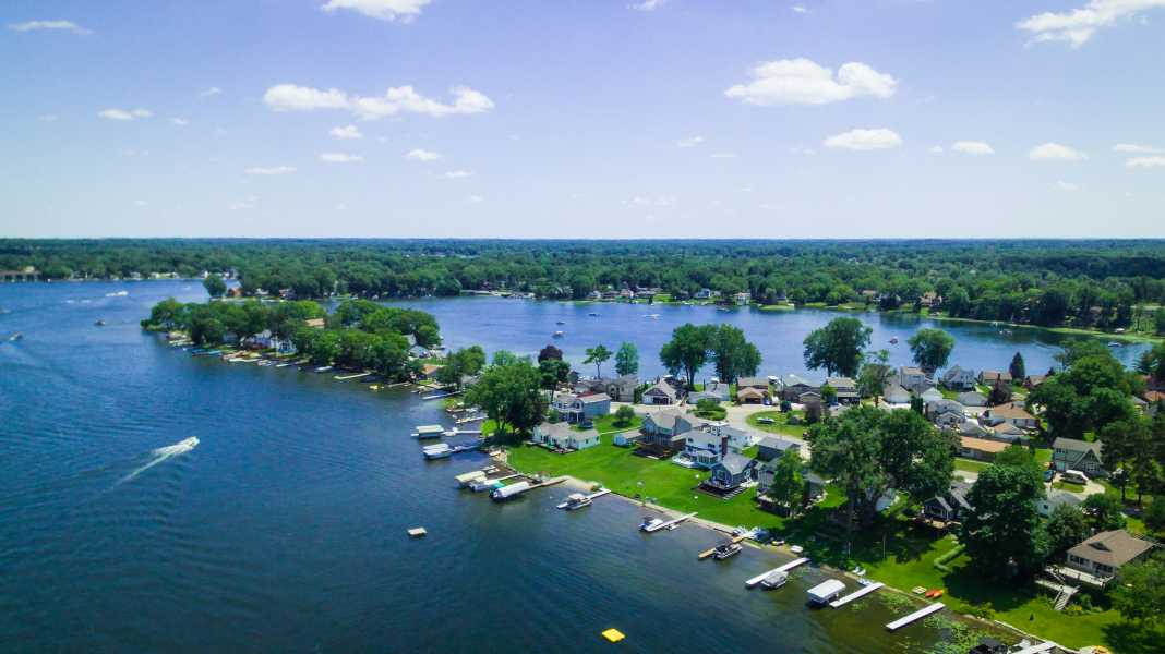 Drone Photo White Lake Charter Township MI