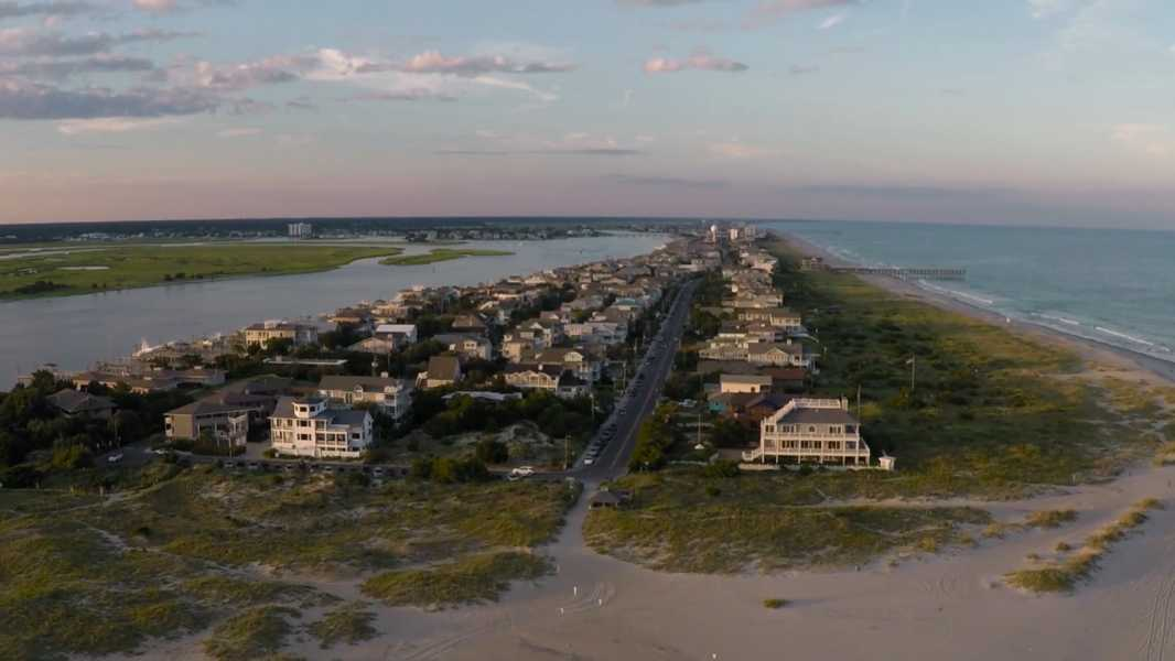 Drone Photo Wrightsville Beach NC