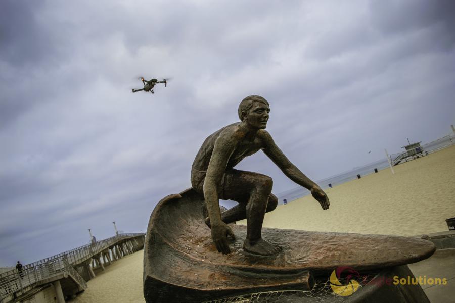 Drone Photo Hermosa Beach CA