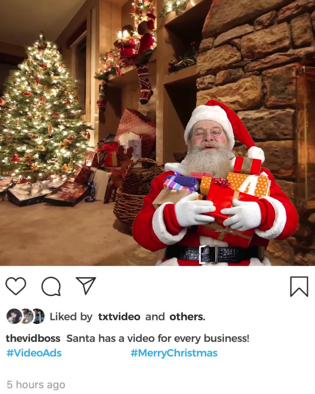 3d Template - Christmas Santa Instagram Skin