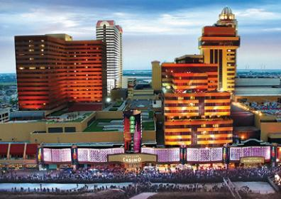 Aerial view of Tropicana Atlantic City