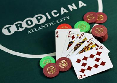 Tropicana Poker table with Cards and Chips