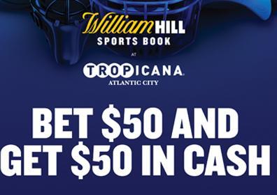 William Hill Sportsbook Offer, Bet 50, Get 50