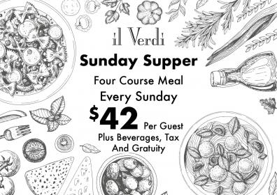 Il Verdi Sunday Supper