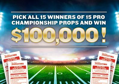 $100,000 Parlay Card for William Hill at Tropicana