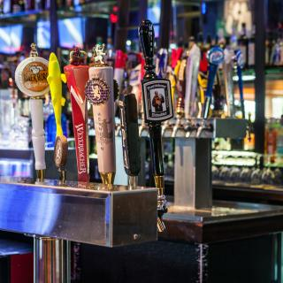 Beer taps at Chickie's and Pete's