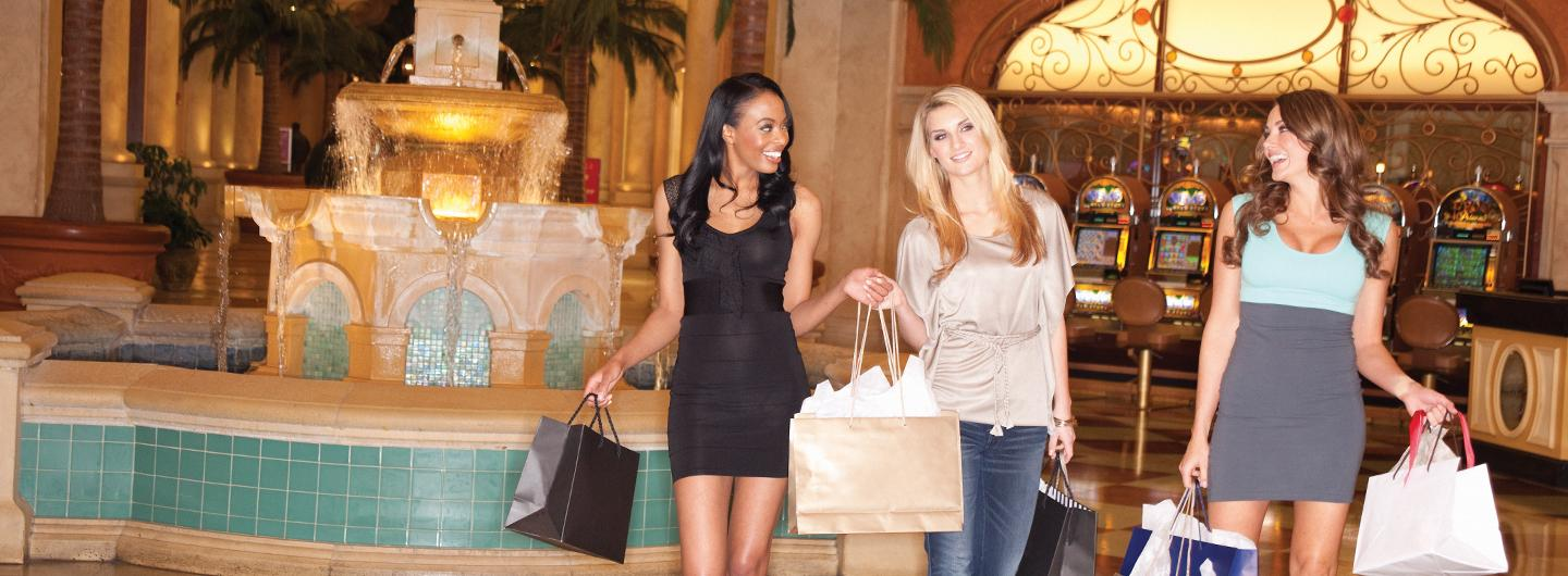 Three ladies Shopping in the Quarter at Tropicana