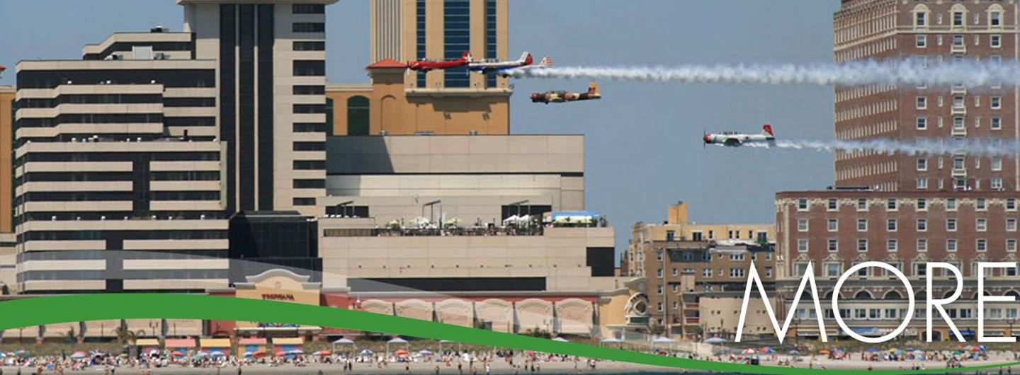 Atlantic City Air Race with Tropicana Atlantic City in the background