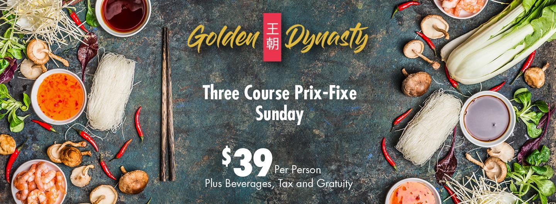Golden Dynasty Prix Fixe