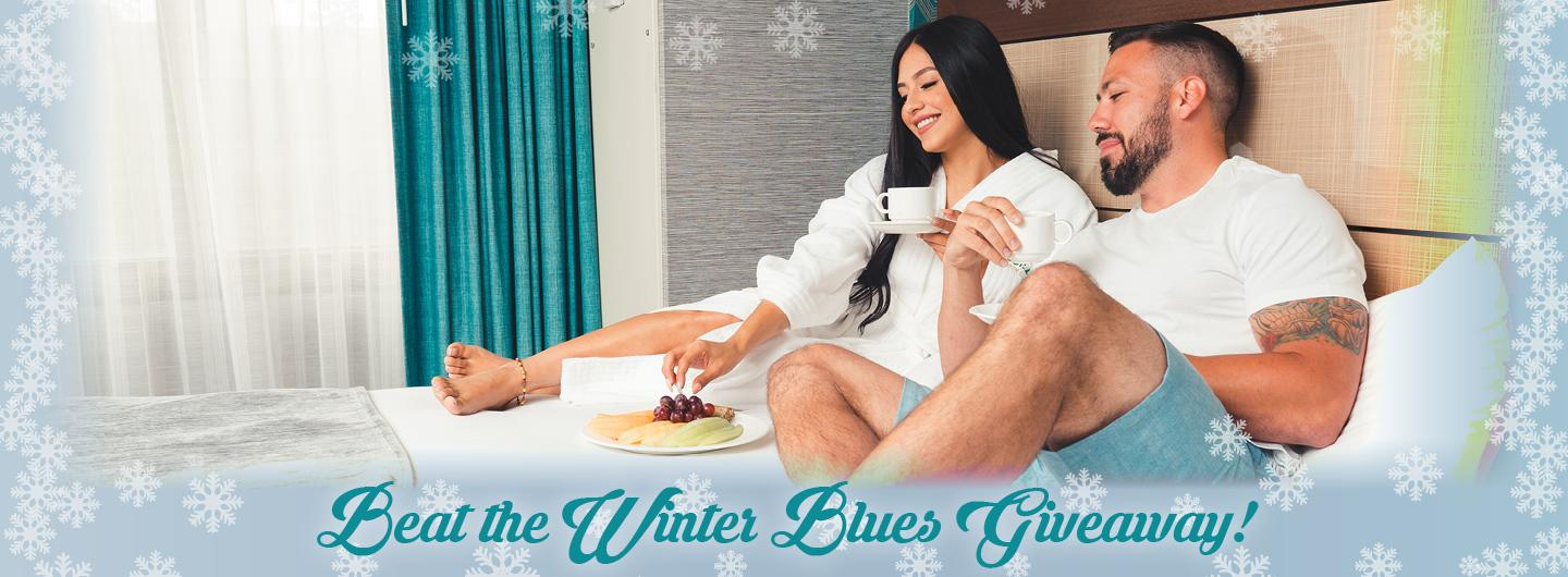 Couple on Hotel bed at Tropicana