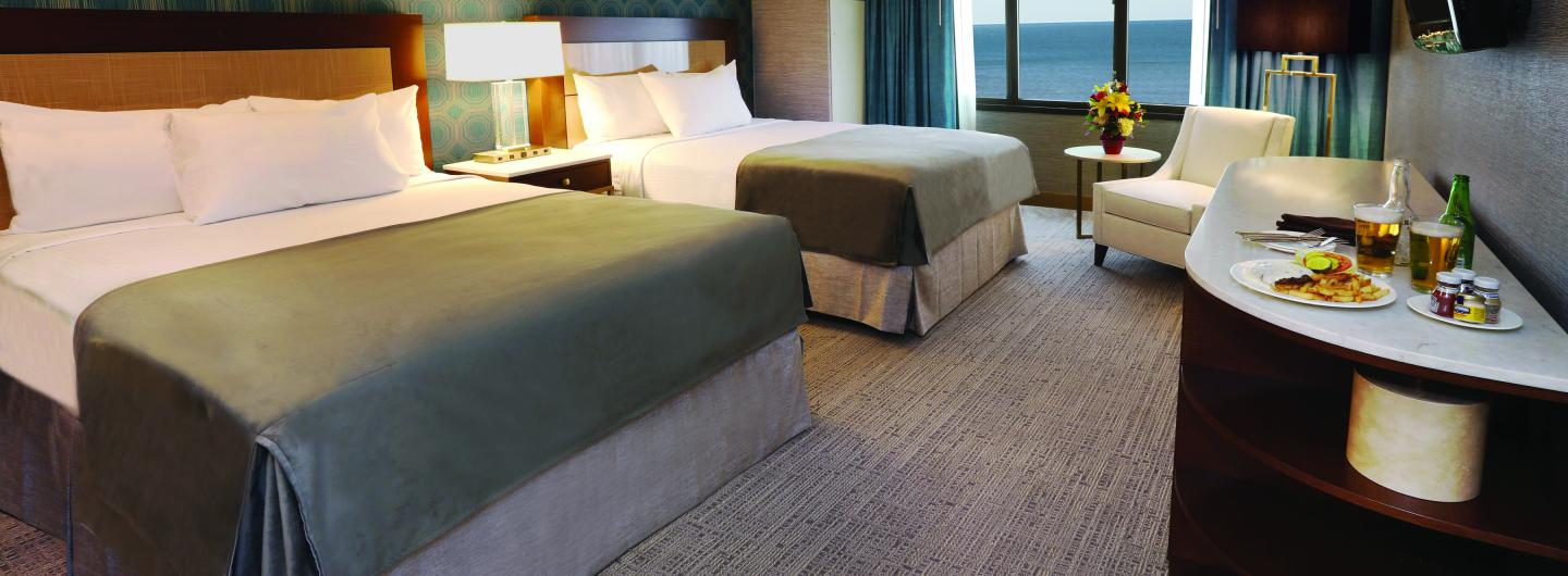 South Tower Standard Room Two Queen at Tropicana Atlantic City