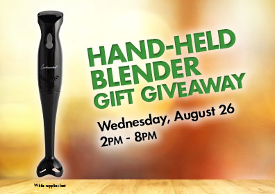 Graphic Design image with the  Hand Held Blender logo