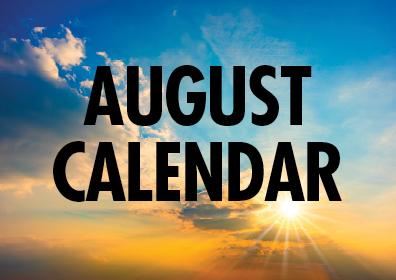 Graphic Design:  August Calendar