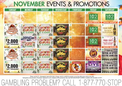 November 2019 Events and Promotions Calendar