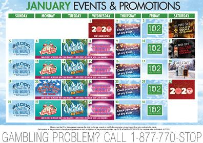 January, 2020 Events and Promotion Calendar