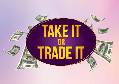Graphic Design image with Take It or Trade It logo