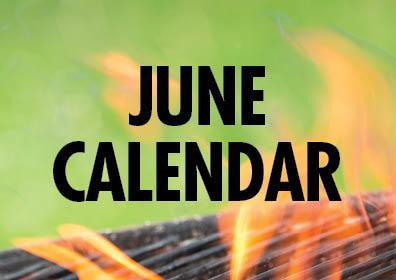 Graphic design:  Words stating June Calendar