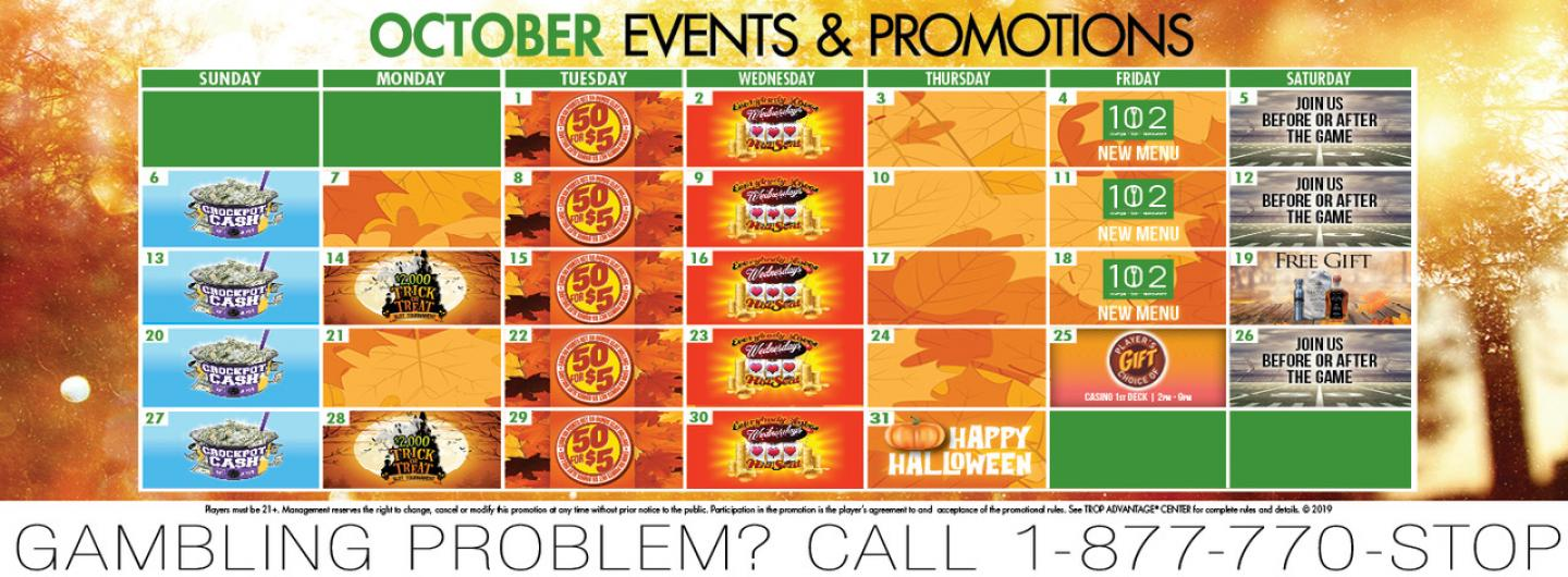 October 2019 Events & Promotions