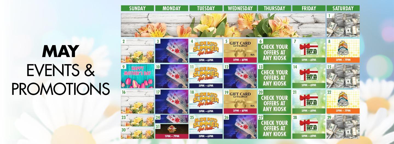 Graphic design:  May Calendar