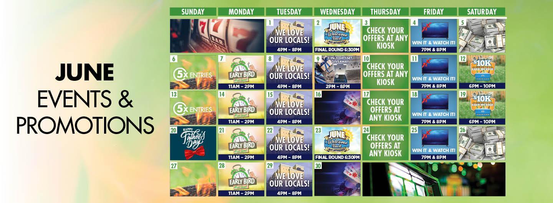 Graphic design: June Calendar