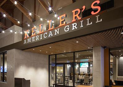 Looking towards Keller's American Grill