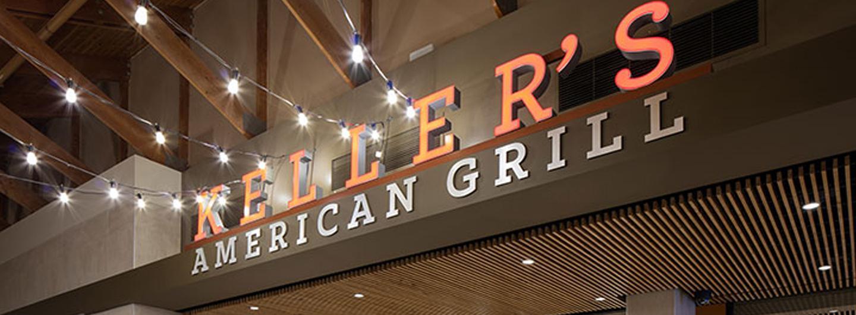 Looking towards Keller's American Grill