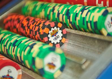 Stacks of Lady Luck Poker Chips