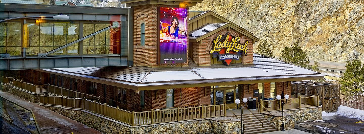 Exterior of the Rustic Lady Luck Black Hawk Casino entrance